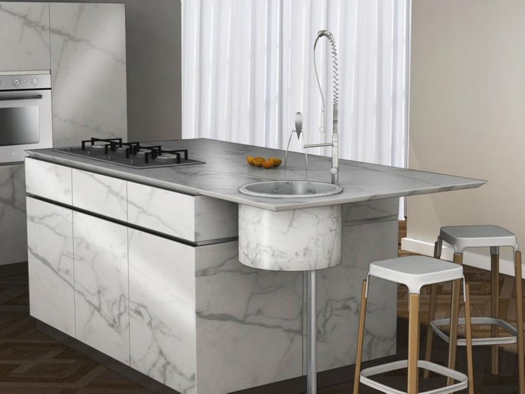 Carrara kitchen http://www.facebook.com/DanielDuarteDesign