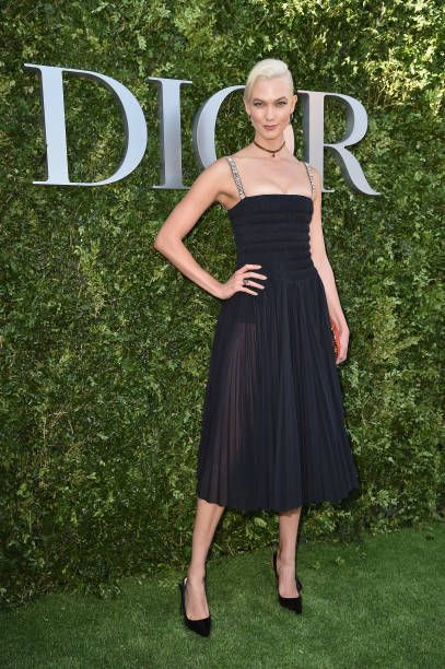 Karlie Kloss attends 'Christian Dior couturier du reve' Exhibition Launch celebrating 70 years of creation at Musee Des Arts Decoratifs on July 3...