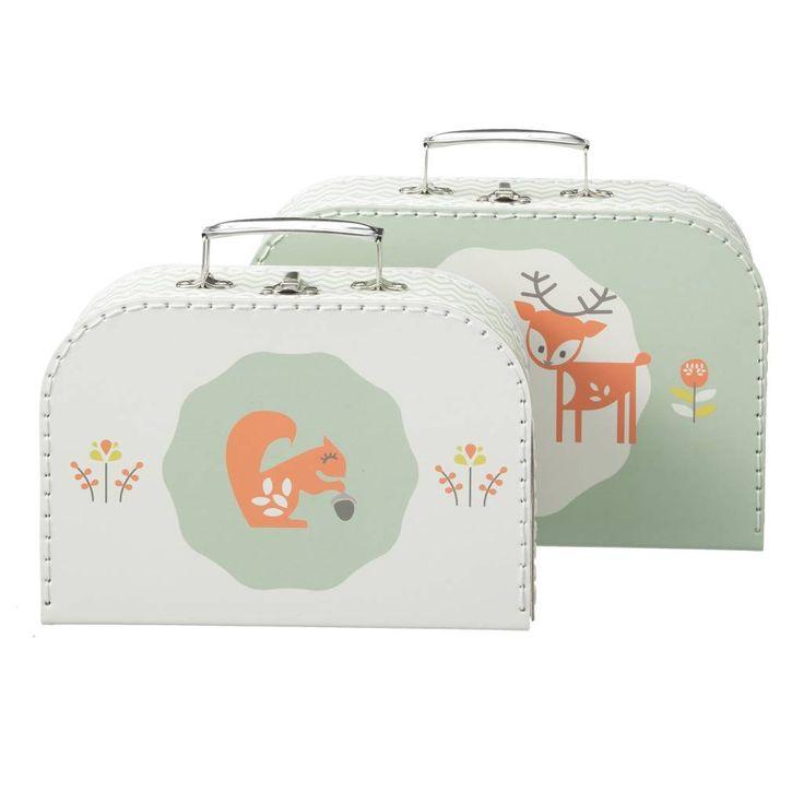 leuke koffertjes van Fresk. leuk als kraamkado!
