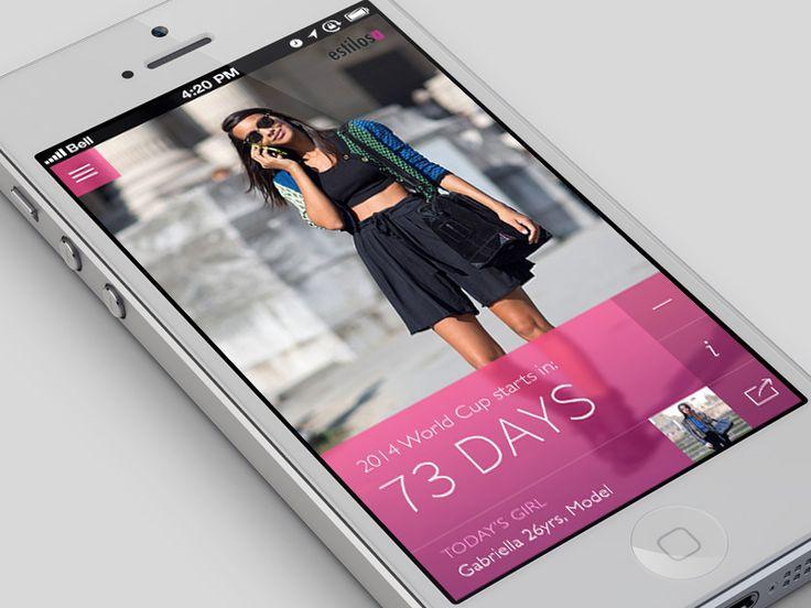 Dribbble - Fashion App - Home by SugarZebra