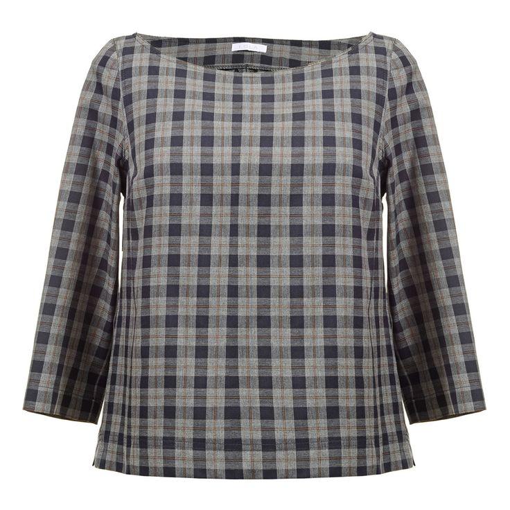 Μπλούζα Boxy σε Καρό Flannel- Fall-Winter
