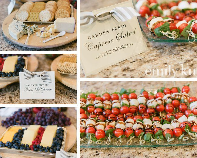 French appetizers at bridal shower luncheon