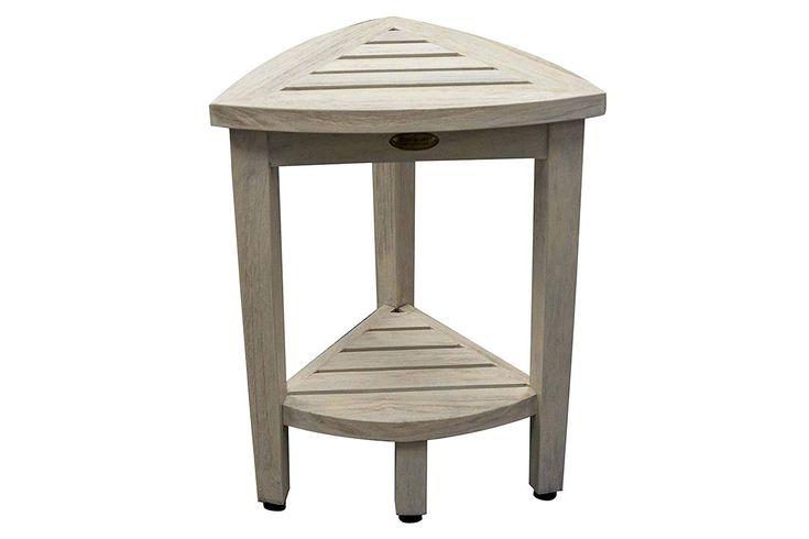 Coastalvogue oasis shower stool driftwood