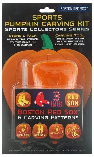 MLB Boston Red Sox Pumpkin Carving Kit by Topperscot. $5.00. Sports Pumpkin Carving Kits allow you to carve your favorite team design. Each Kit contains six team-specific designs and a three piece tool set necessary to create your masterpiece.