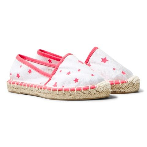 Sunuva White and Pink Pop Star Espadrilles