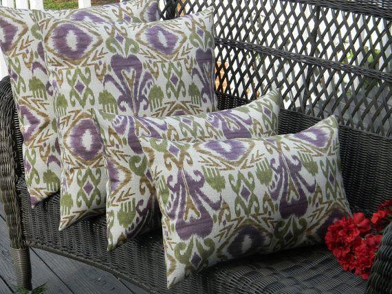 Set Of 4 Indoor Outdoor Decorative Throw Pillows