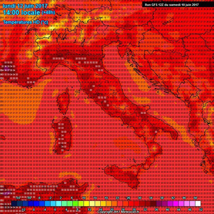 Settimana d'Inferno con temperature sui 36°C L'alta pressione, che si sta imponendo sul Mediterraneo, nei prossimi giorni tenderà a rinforzarsi ulteriormente, e con essa anche il caldo; infatti, se in questi giorni le temperature oscillano medi #meteo #settimana #italia #caldo #africa