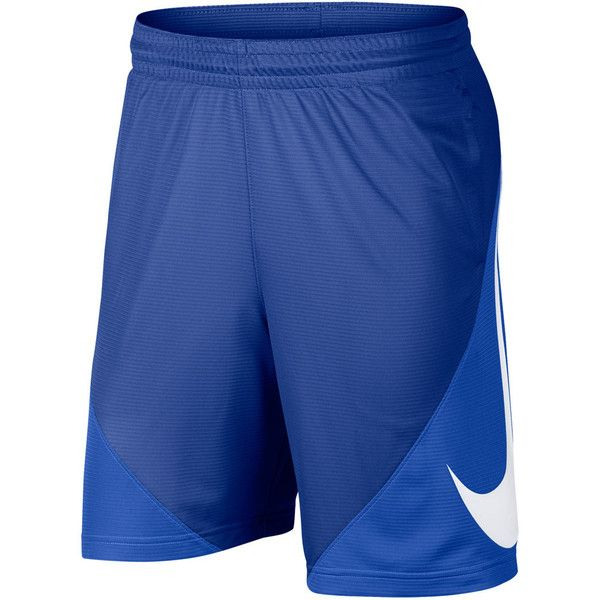 Big & Tall Nike Basketball Shorts ($35) ❤ liked on Polyvore featuring men's fashion, men's clothing, men's activewear, men's activewear shorts, blue, mens activewear shorts and mens big and tall activewear