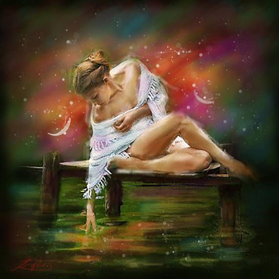 Decorative Art Erotic Woman Oil Painting Woman figure