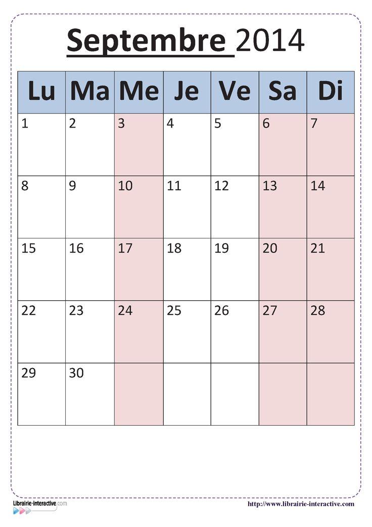 Plusieurs versions du calendrier scolaire 2014-2015 pour un affichage en classe.
