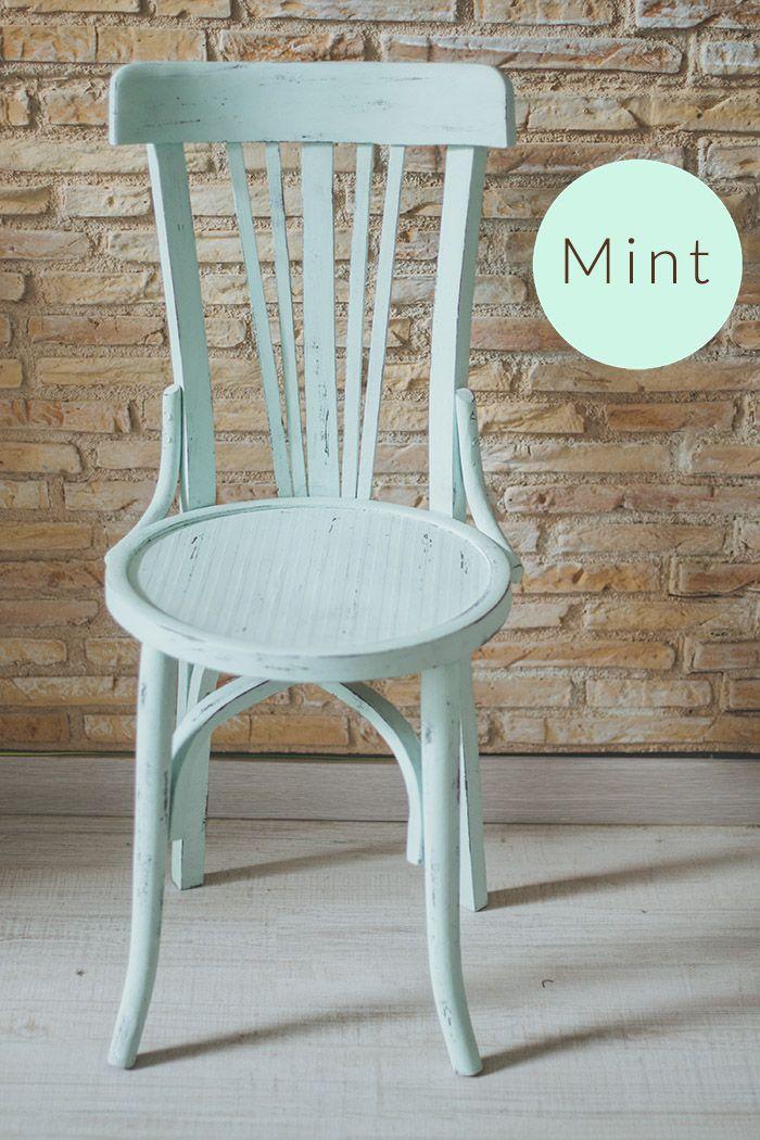 17 mejores ideas sobre sillas de comedor pintadas en - Sillas comedor vintage ...