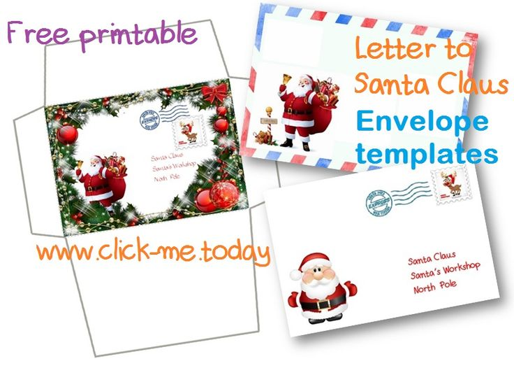 santa claus letter free printable letter to santa claus envelope template 11808