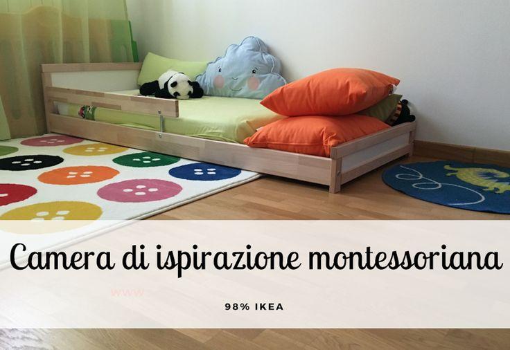 Cameretta di ispirazione montessoriana che abbiamo realizzato al 98% con acquisti da IKEA. Vieni a scoprire tutti i dettagli!