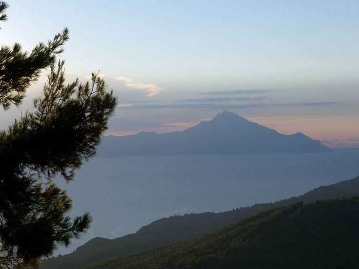 Mount Athos view from #Sithonia in #Halkidiki  http://apartments-panagi.com