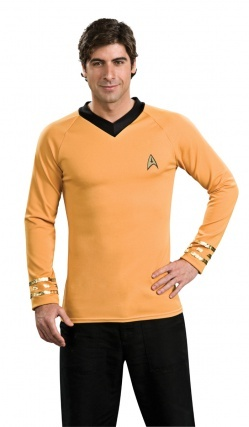 Tee-Shirt Capitaine Kirk Star Trek Clasique Jaune
