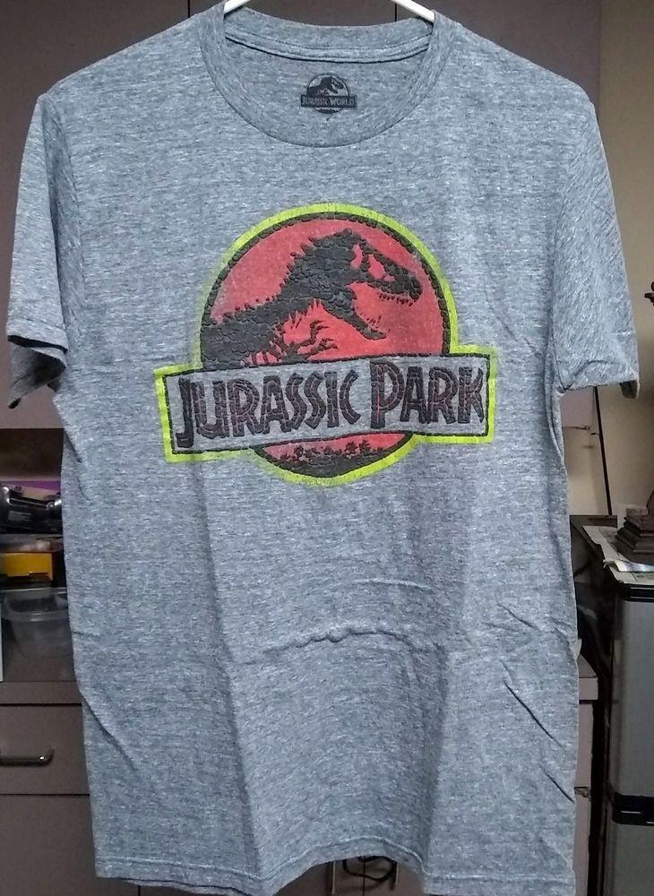 Jurassic Park Movie Stone Logo Licensed Adult T Shirt