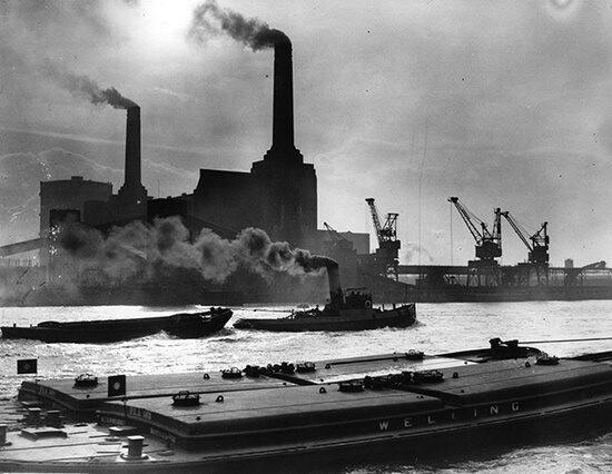 Battersea Power Station. 1937 - I have always found Industrialisation so evil.