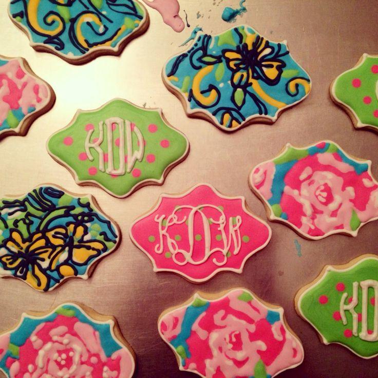 Monogrammed cookies! So cute!!!!