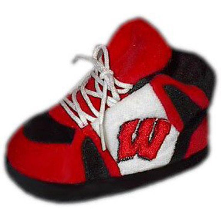 Comfy Feet NCAA Baby Slippers - Wisconsin Badgers - WIS03PR