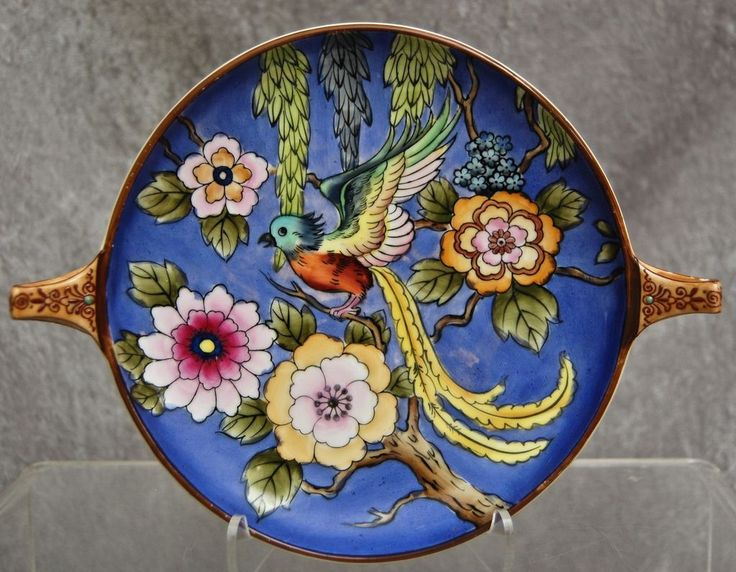 Stunning Noritake Hand Painted Dish W/Bird, Ca. 1925 From The Devil Duck