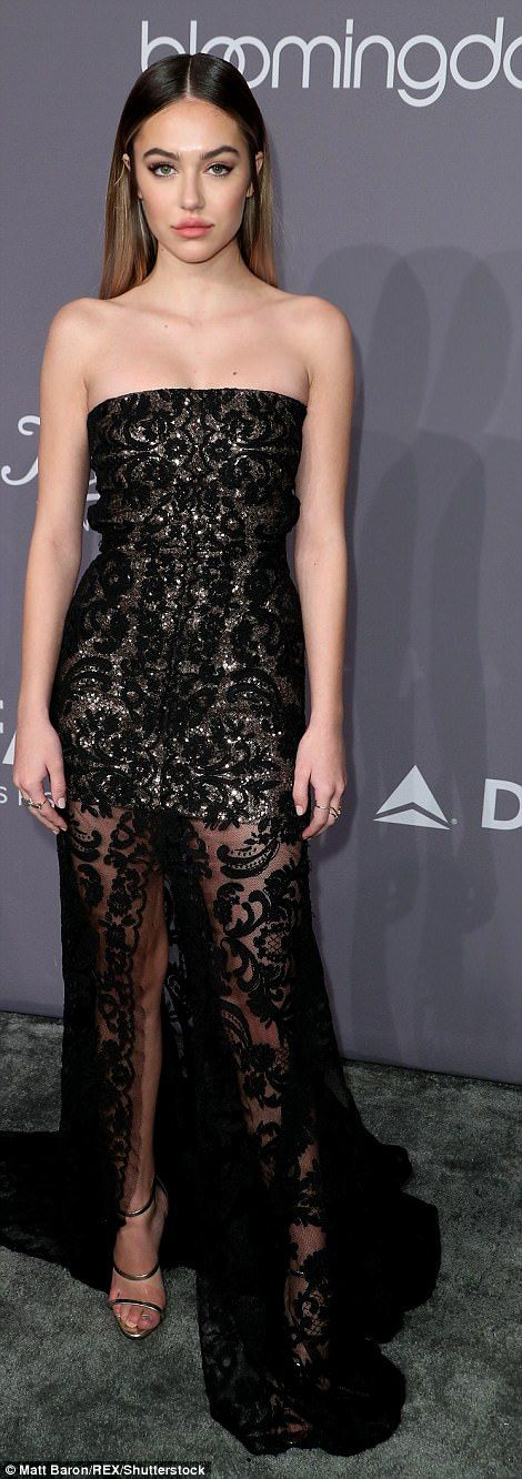 Delilah Belle Hamlin, the 19-year-old daughter of Lisa Rinna and Harry Hamlin, wore a stra...