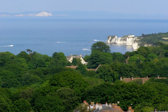 Studland and Old Harry Rocks from Black Down