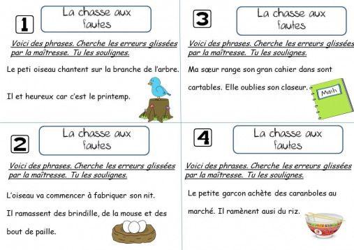 LA CHASSE AUX FAUTES CE1 – La classe de Corinne #l…