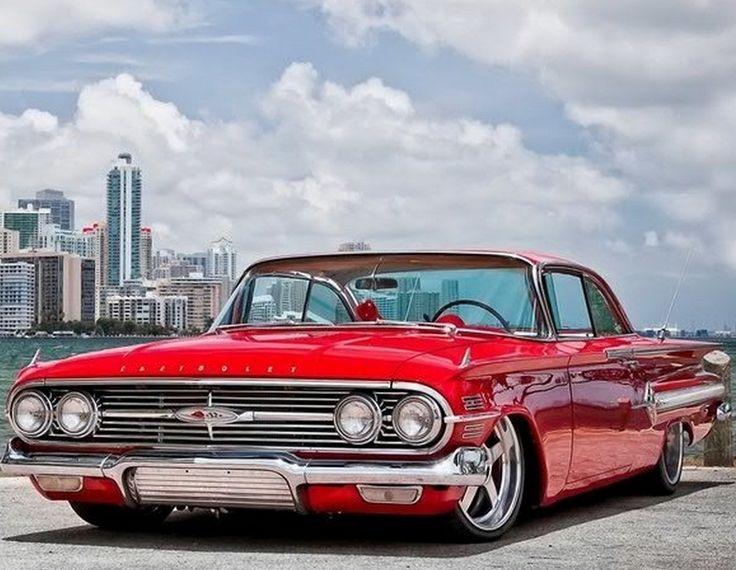 Red chevrolet Impala 1960                                                                                                                                                     Plus