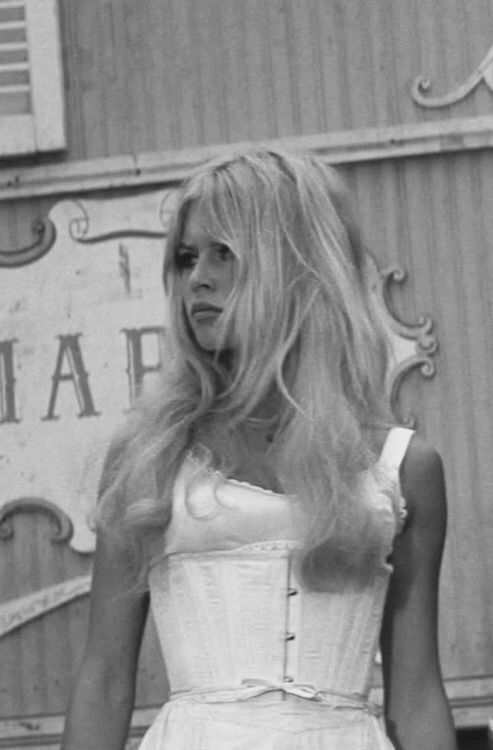 Another lovely image of Bridgette Bardot on set