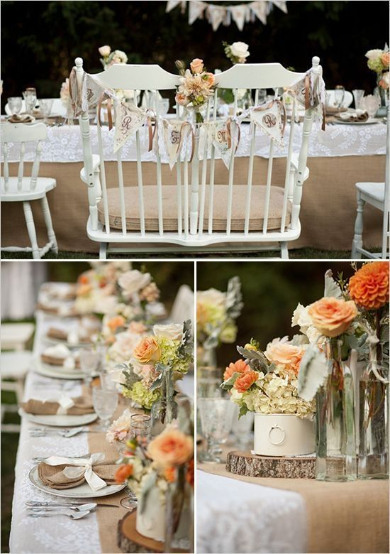 burlap and lace wedding ideas by doreen.minordwatson