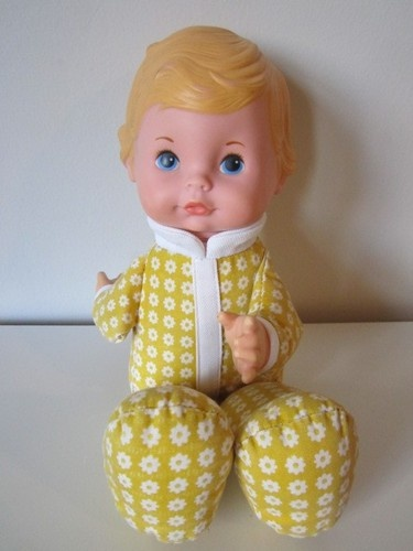 "Vintage 1975 70's Fisher Price Lapsitter Honey Baby Boy Doll 208 Plush 12"" | eBay sold for 40.00"