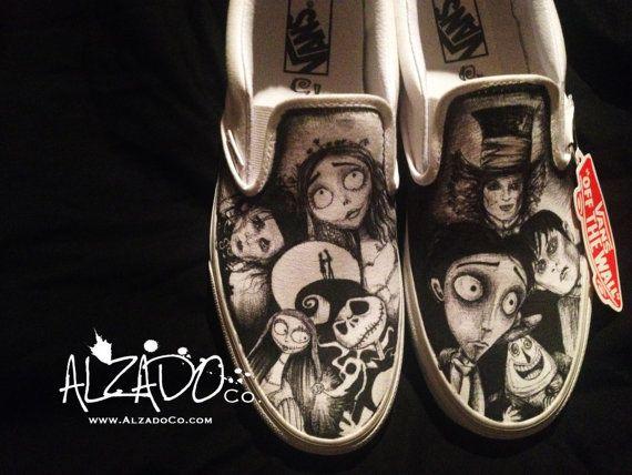 One of a kind Tim Burton shoes. Johnny Depp by AlzadoCompany