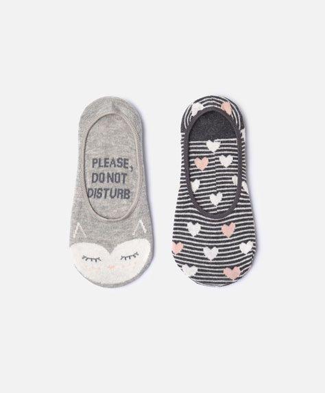 2-pack of owl shoeliner socks