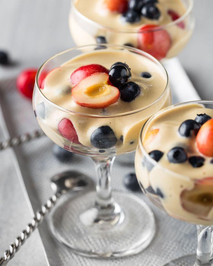 Crèmes sabayon aux fruits de l'été