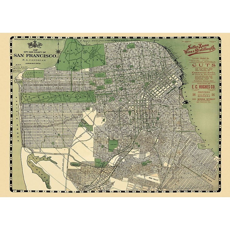 San Francisco Map Wrapping Paper Paper