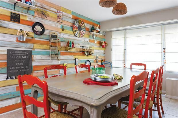 Living comedor y hall integrados con colores y texturas for Ideas para el living comedor