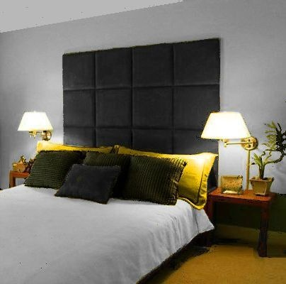 MONACO WALL PANEL LARGE TALL HEADBOARD DOUBLE KINGSIZE SUPER KING | eBay      (wall mounted large headboard in charcoal or slate grey)