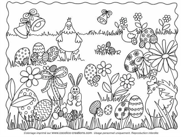 """cocolico-creations : coloriage """"Des oeufs et des cocottes..."""""""