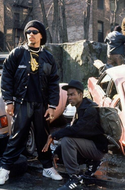 "Ice -T & Chris Rock in ""New Jack City"""