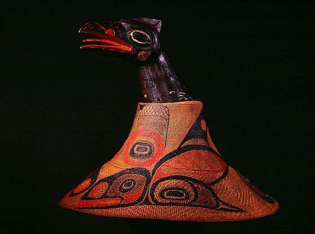 Tlingit raven spruce root hat - 19th century