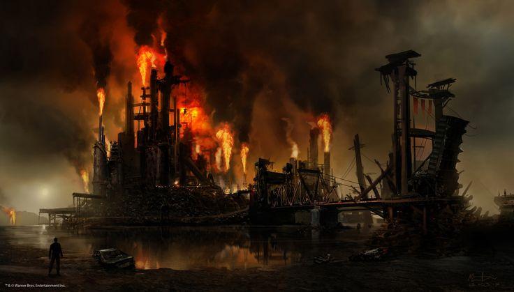 Mad Max the game - Gas Town, Martin Bergquist on ArtStation at https://www.artstation.com/artwork/AQ0xo
