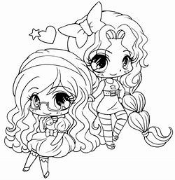 This is a picture of Sly Kawaii Girl Coloring Pages