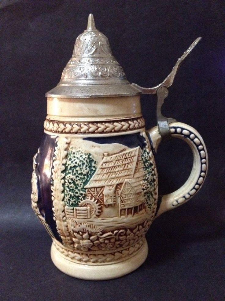 Estate Find - Vintage German Beer Stein / Mug with Lid
