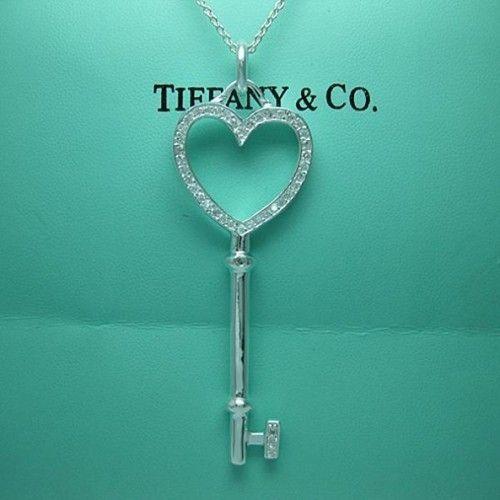 Tiffany & Co Necklace. Heart Key
