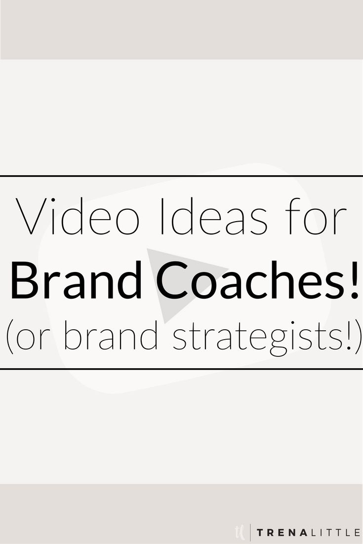 Video Ideas for Brand Strategists — Trena Little | Video Content Strategist  Grow your audience and your authority fast with video content!  If you aren't sure what to talk about in your first video I've got three video ideas for brand coaches or brand strategist to get started with.  These videos will make you really stand out in your niche!