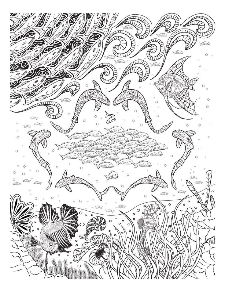 Oceana Coloring Pages For AdultsAdult