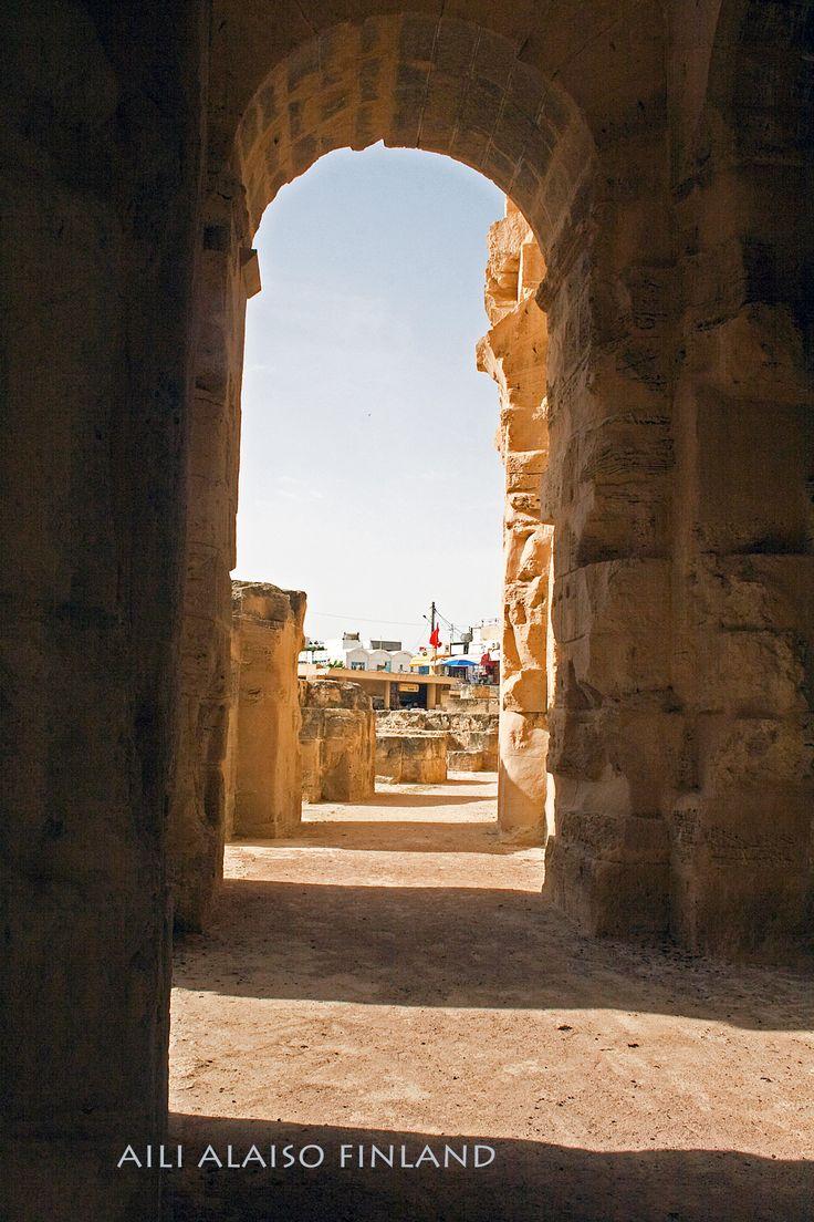 Amphitheater of El Jem, Tunisia, Africa Photo Aili Alaiso Finland