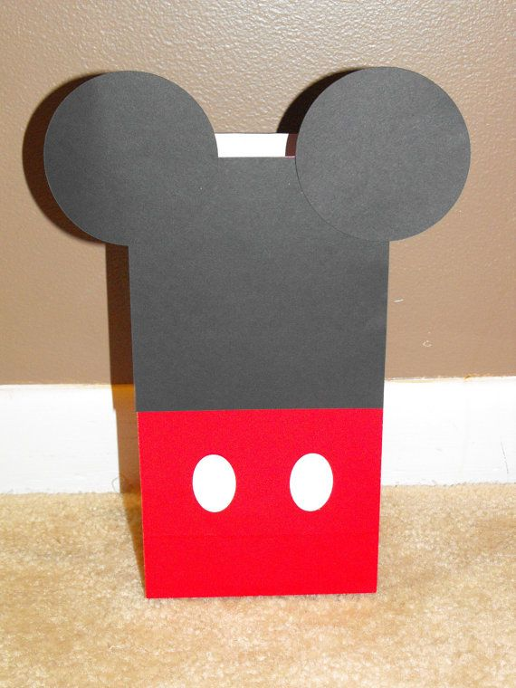 Mickey Mouse Goody Bags Mickey Mouse Treat by BeesDieCutDesigns, $14.00