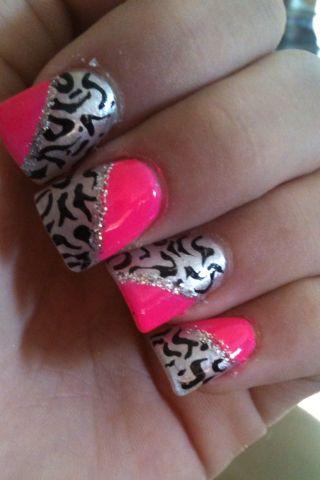Pink and cheetah nails   Nails   Pinterest   Cheetah nails, Cheetahs and Makeup