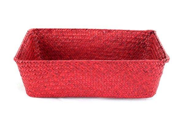 Red Rectangular Basket 13'' x 9'' x 4''